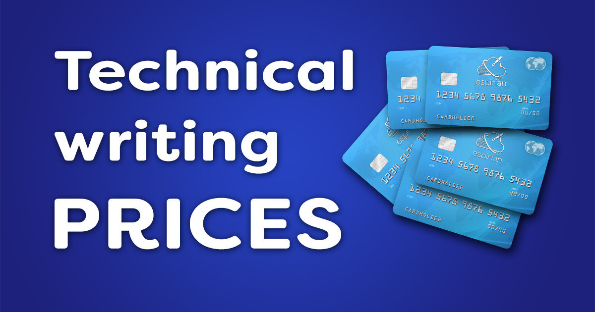Technical editing services rates