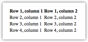 Table example 1