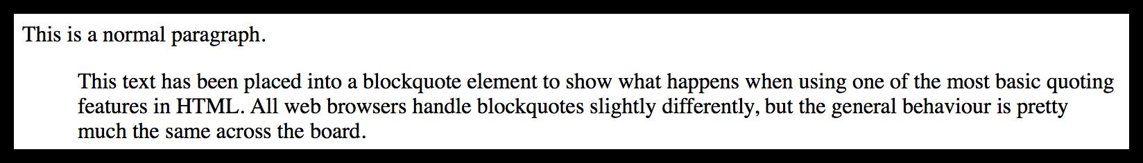 Blockquote example