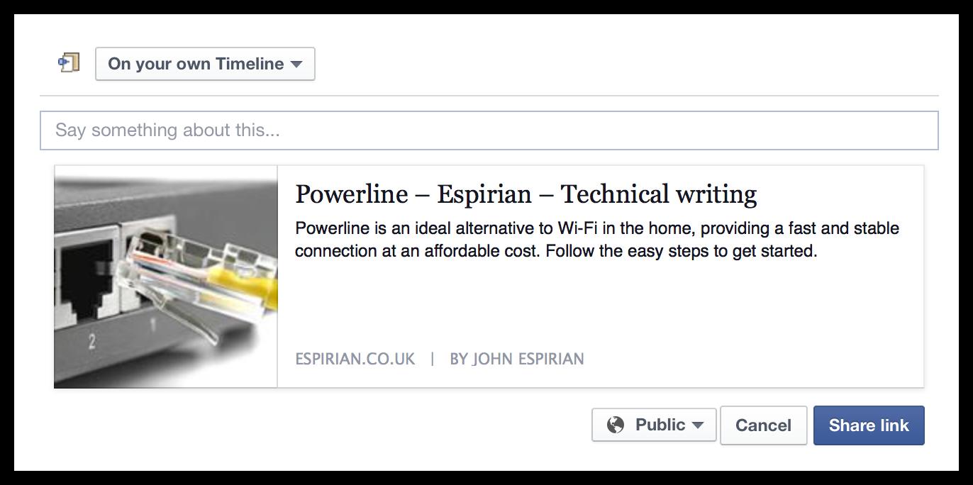 Powerline post on Facebook