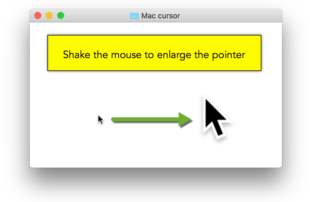 Enlarge mouse pointer