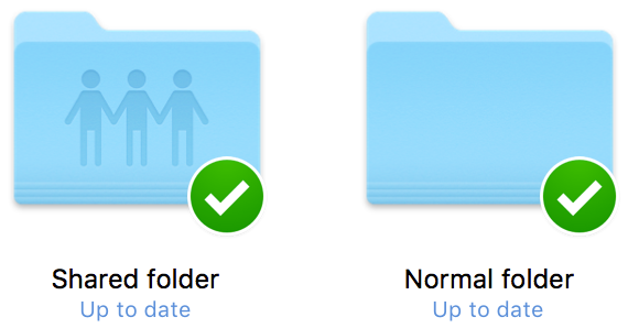 Dropbox shared folder and normal folder