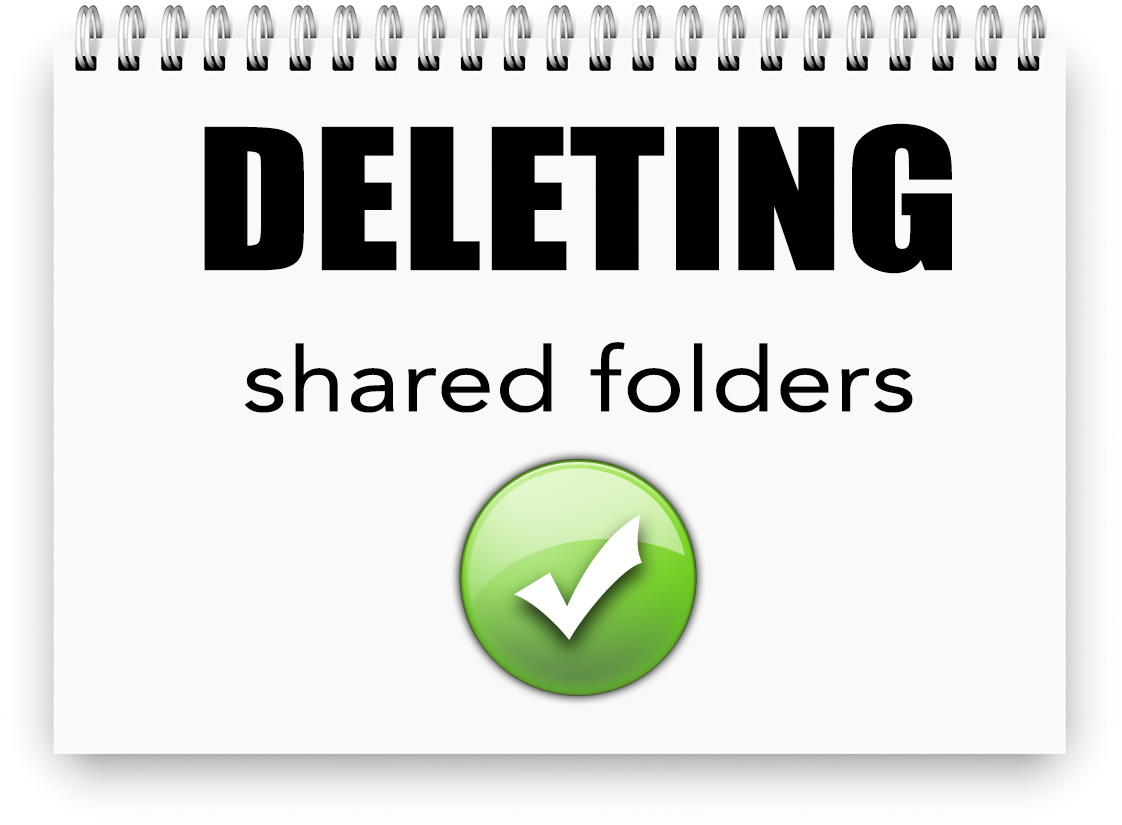 Deleting shared folders