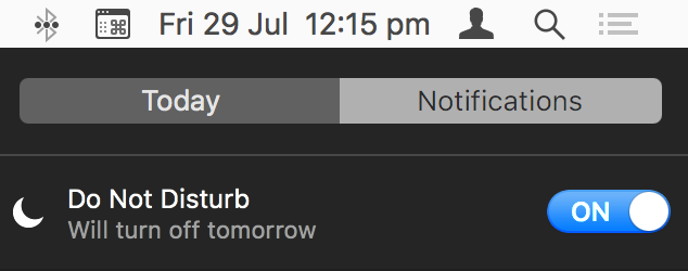 Do Not Disturb notifications feature