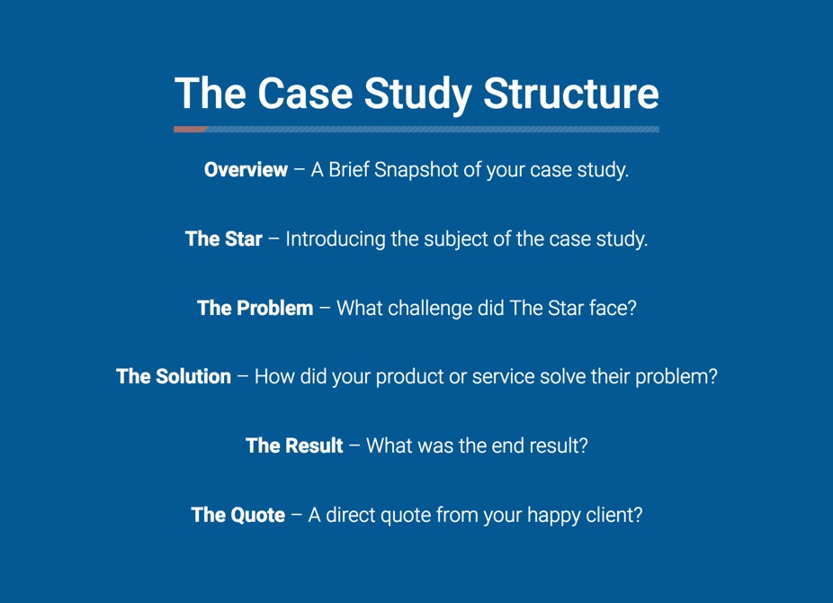 Case study structure