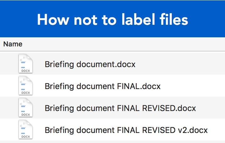How not to label files