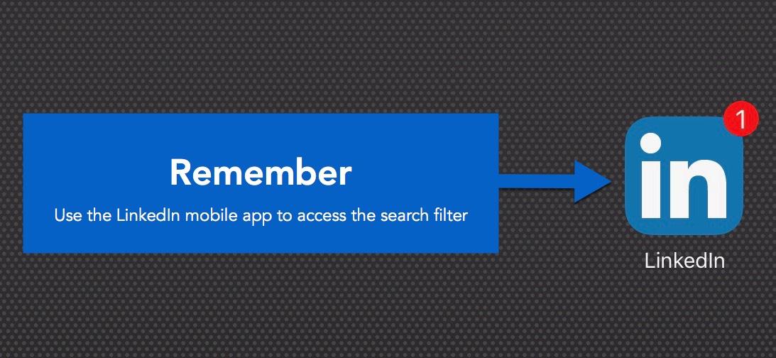 LinkedIn mobile app reminder