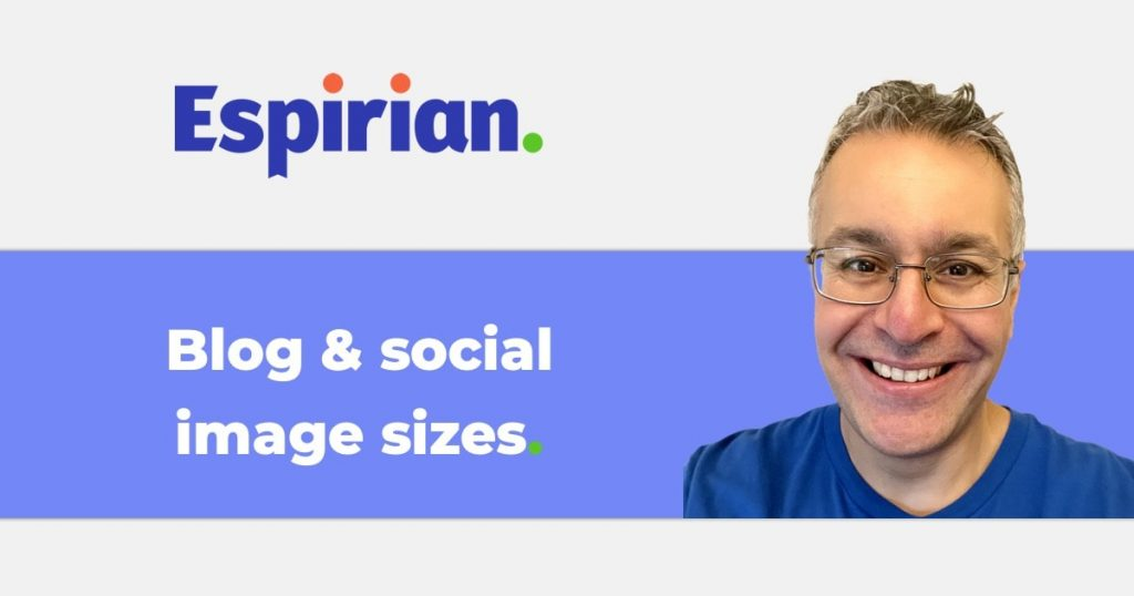 Blog and social image sizes