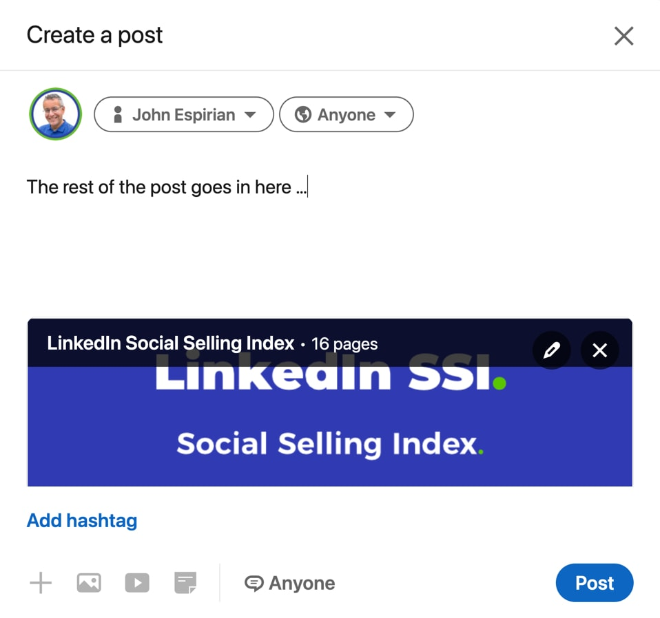 Start composing your post