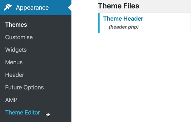 Edit the header in your WordPress theme