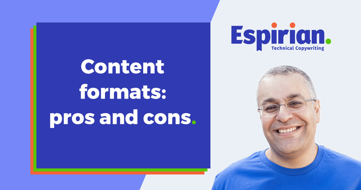 Document content formats: pros and cons