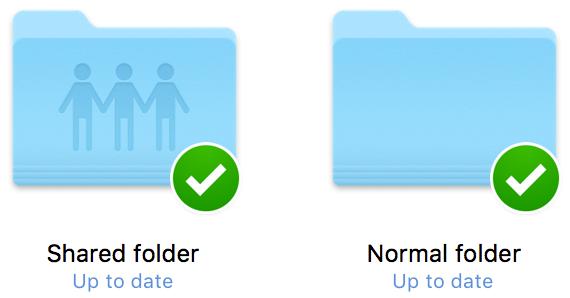 Dropbox shared folder and normal folder