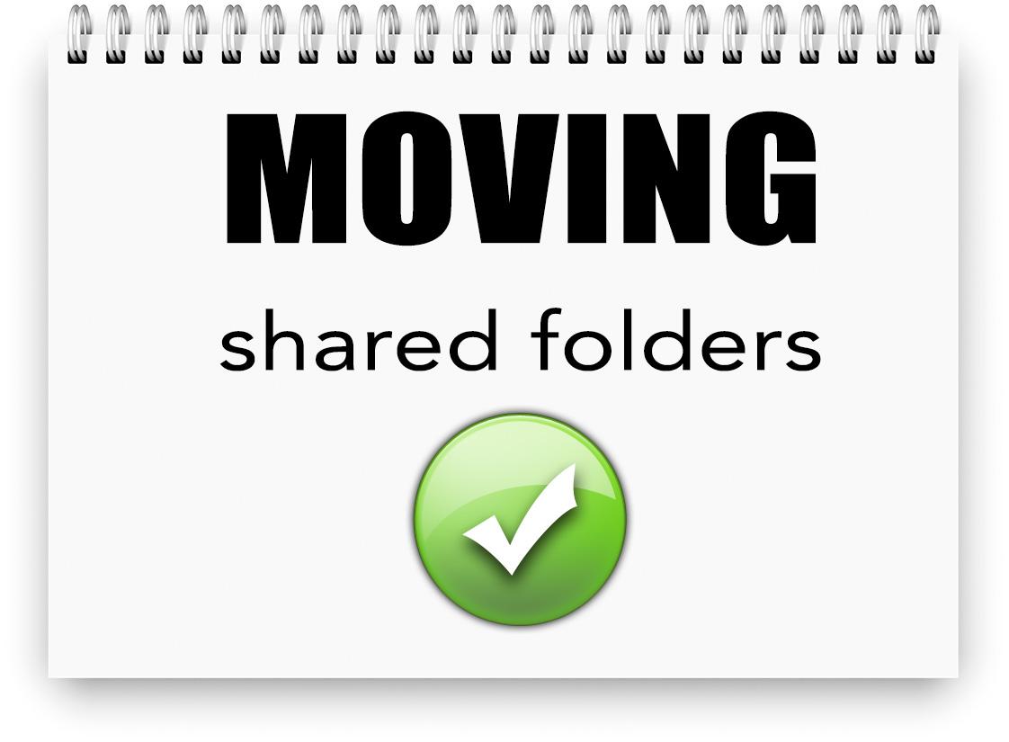 Moving shared folders