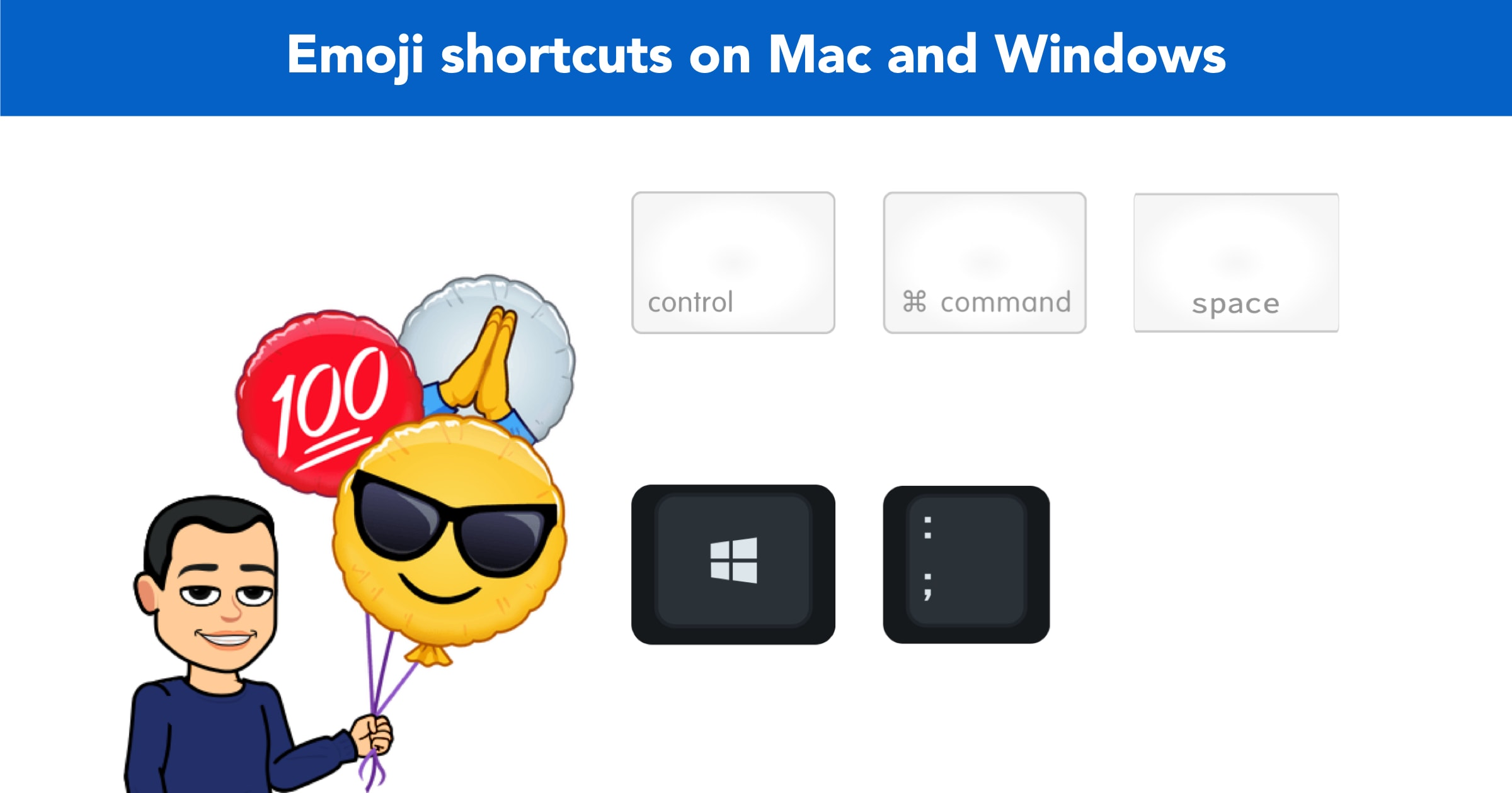 Emoji shortcuts for Mac and Windows