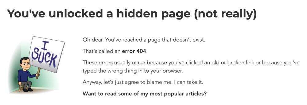 Error 404 sample page