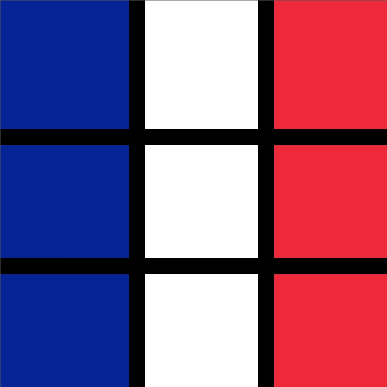 France flag in pixels