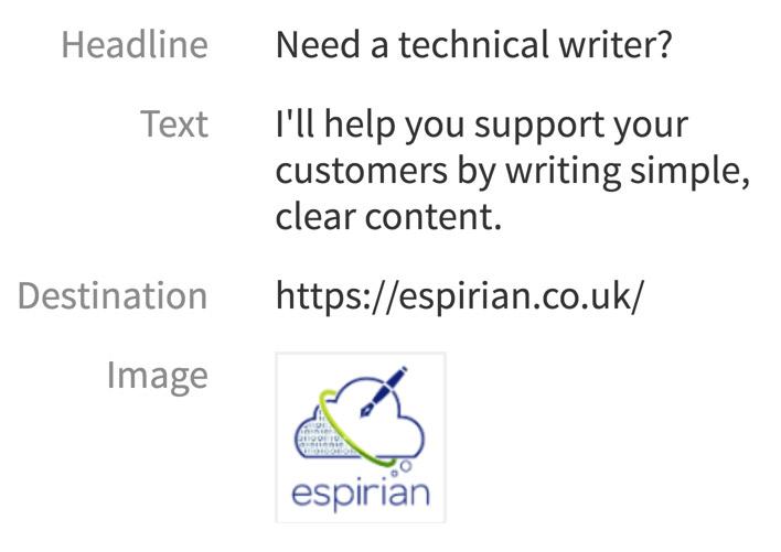 LinkedIn text ad 1