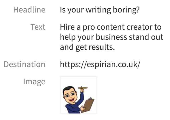 LinkedIn text ad 2