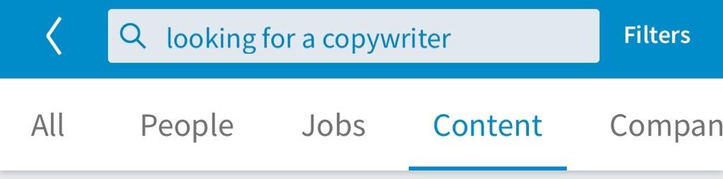 LinkedIn posts filter