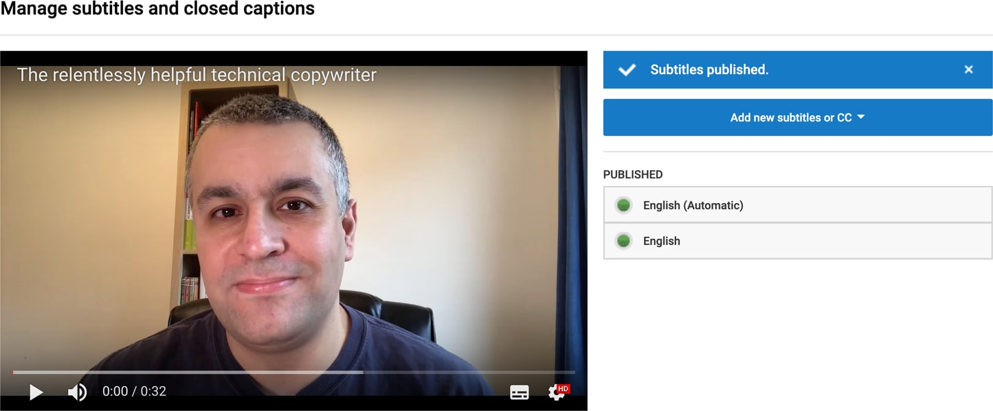 Remove automatic captions in YouTube