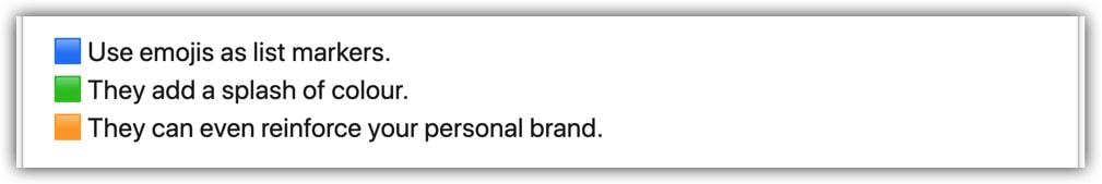 LinkedIn post lists