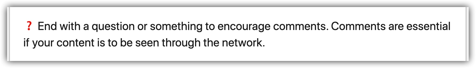 LinkedIn post engagement request