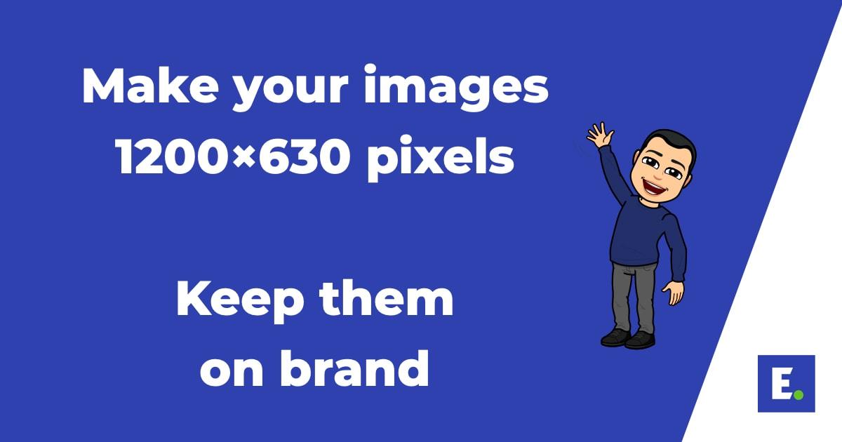 LinkedIn post branded images
