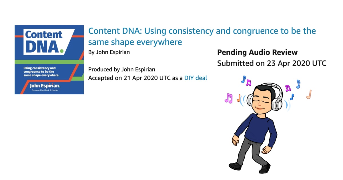 Content DNA submitted to Audible
