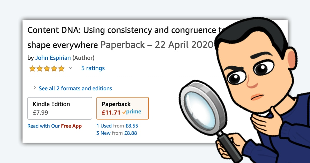Content DNA on Amazon in paperback and ebook
