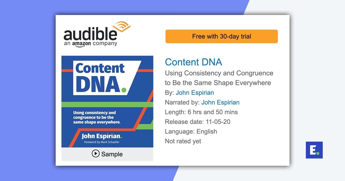 Content DNA audiobook on Audible
