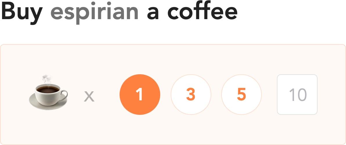 Buy John Espirian a coffee from only £5