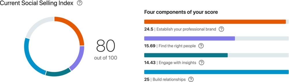 John Espirian LinkedIn SSI score of 80