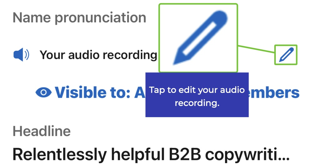 LinkedIn audio pronunciation 2