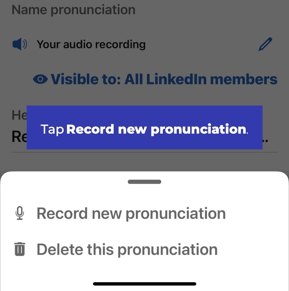 LinkedIn audio pronunciation 3