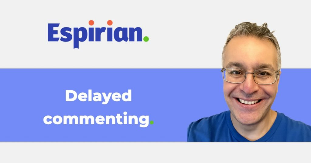 Delayed commenting experiment