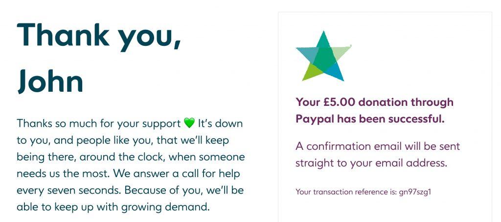 Samaritans donation
