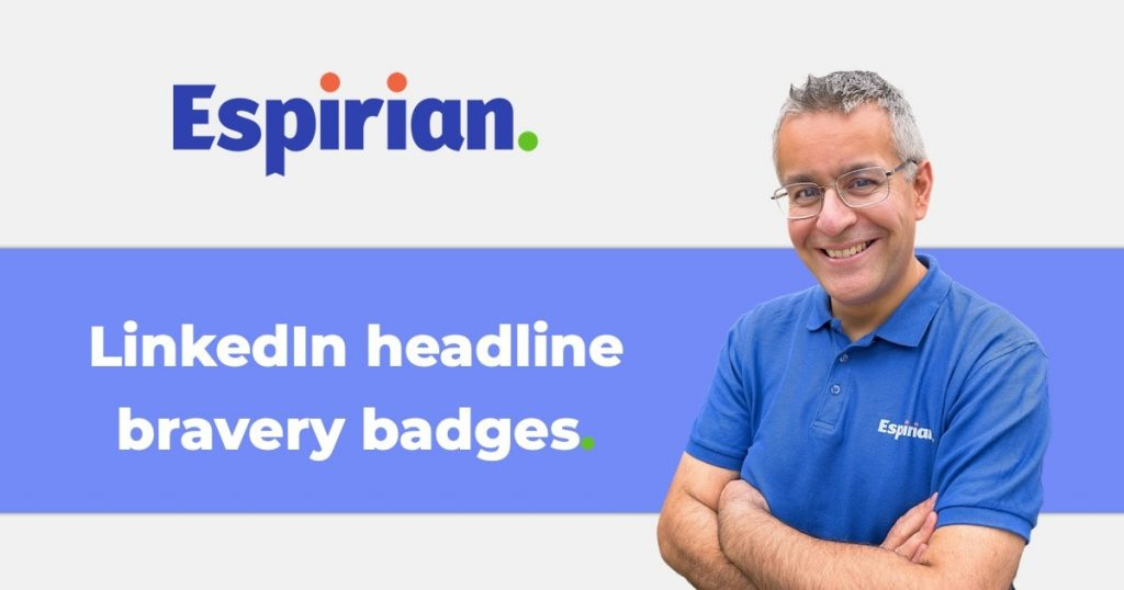 LinkedIn bravery badges