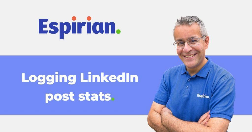 Logging LinkedIn post stats