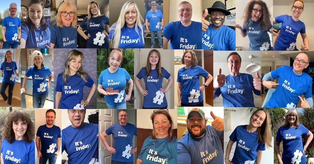 Friday Shout T-shirt wearers
