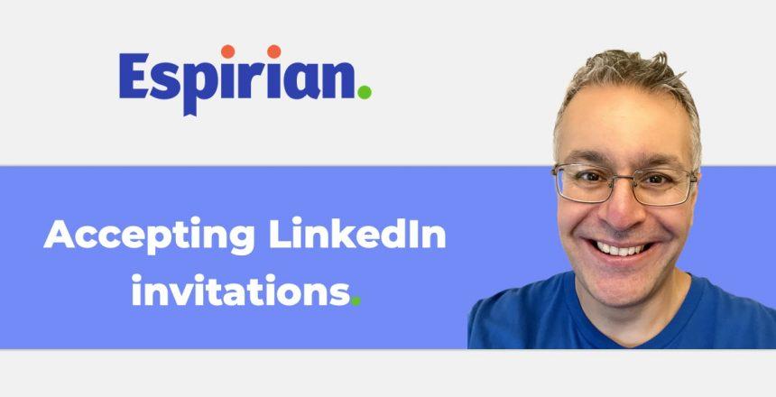 Accepting LinkedIn invitations