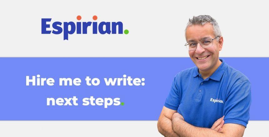 Hire me to write: next steps