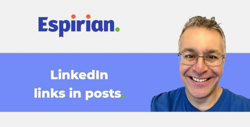 LinkedIn links in posts