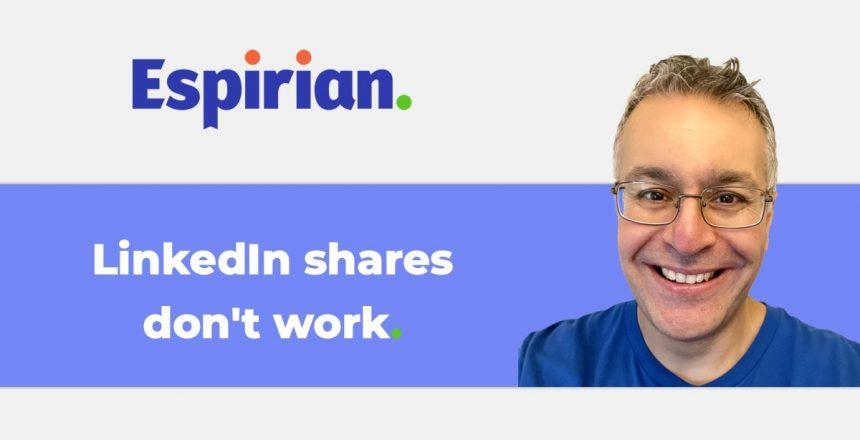 LinkedIn shares don't work