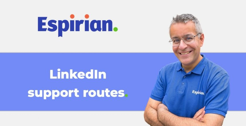 LinkedIn support routes