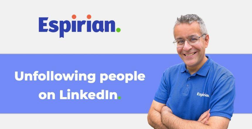 Unfollowing people on LinkedIn