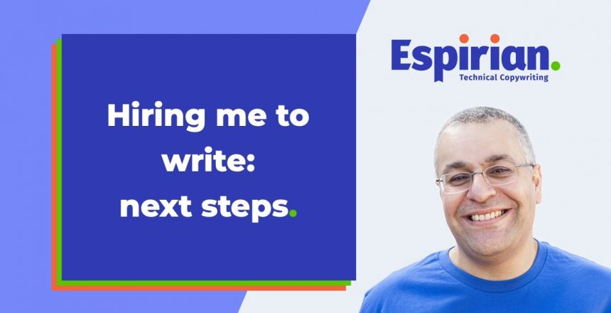 Hiring me to write: next steps